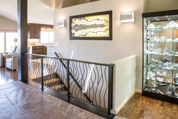 Custom black steel staircase in Golden, Colorado