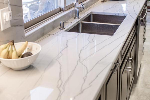 Black and white quartzite countertops in Golden, Colorado
