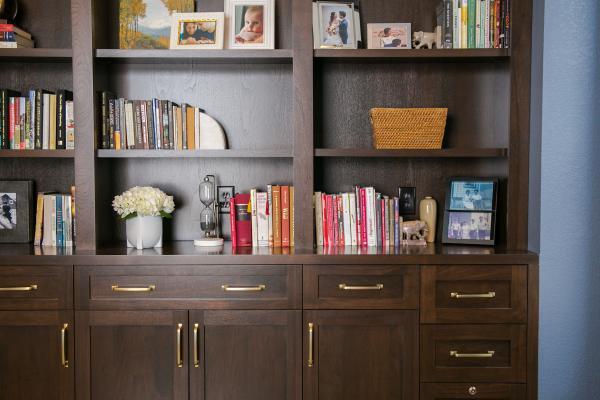 Custom office bookshelf