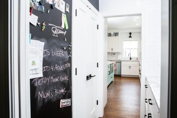 Custom chalkboard cabinet