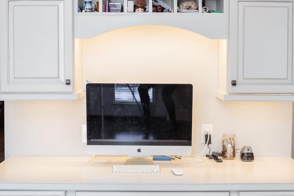 Custom desk cabinetry