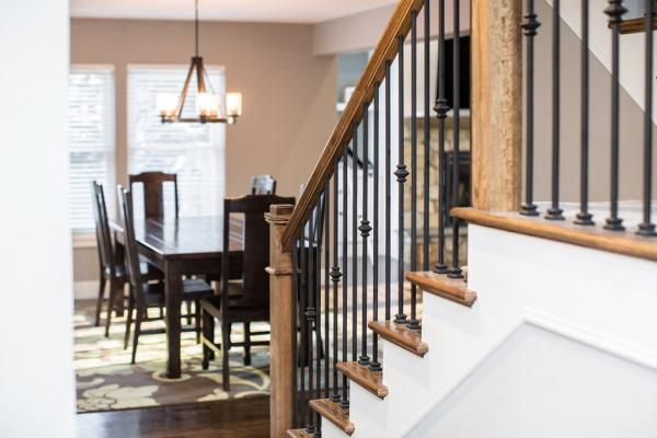 New staircase with wood and iron