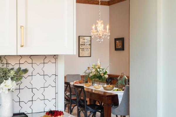 entry from dining into kitchen