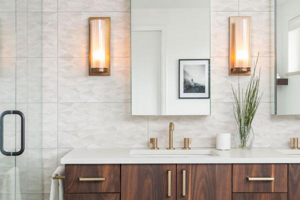 master bathroom vanity wall