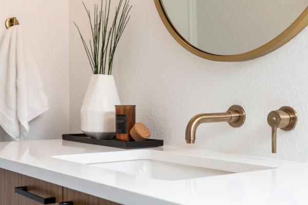 guest bathroom sink detail