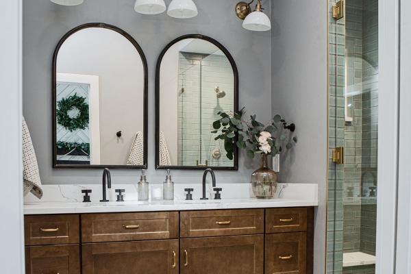 master bathroom vanity wall