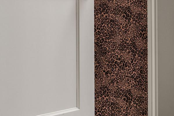 master bathroom wallpaper detail