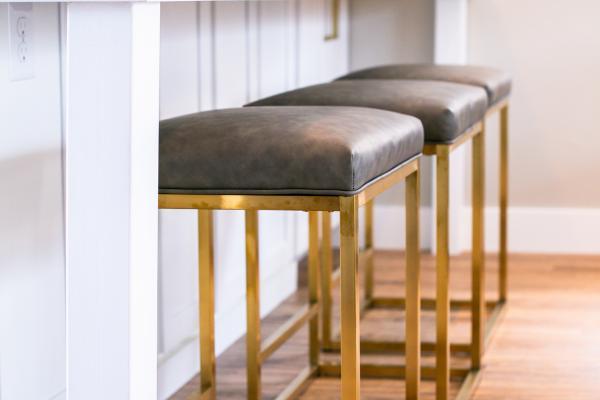 modern bar stool detail