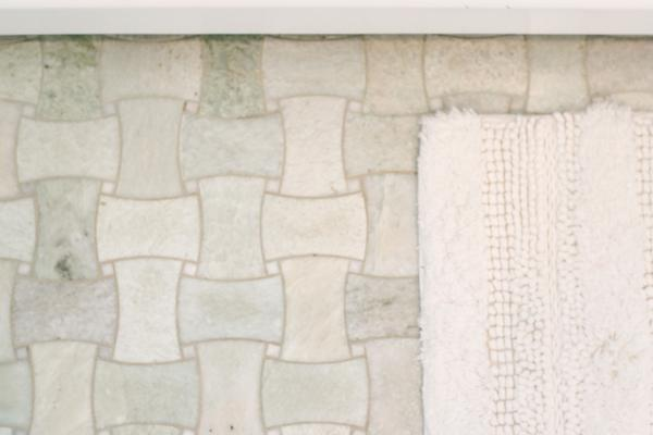 master bathroom marble floor detail