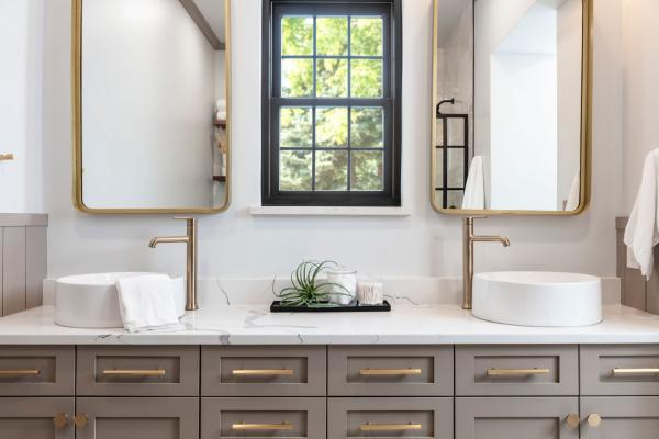 master bathroom double vanity